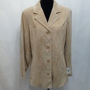 Wilsons Leather Tan Suede Jacket